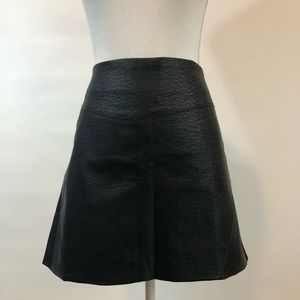 NWT H&M Divided 14 Black Pleather Skirt